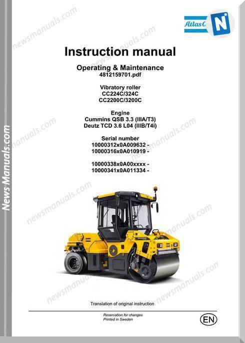 Dynapac Cc224c 324c Cc2200c 3200c Maintenance Manual