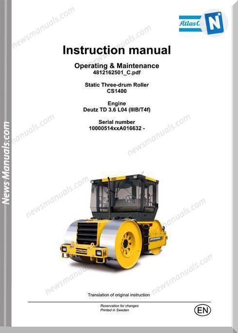 Dynapac Cs1400 Engine Td 3.6 L04 Maintenance Manual