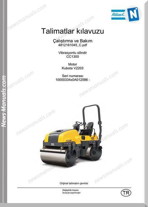 Dynapac Model Cc1300 Kbt V2203 Operation Manual