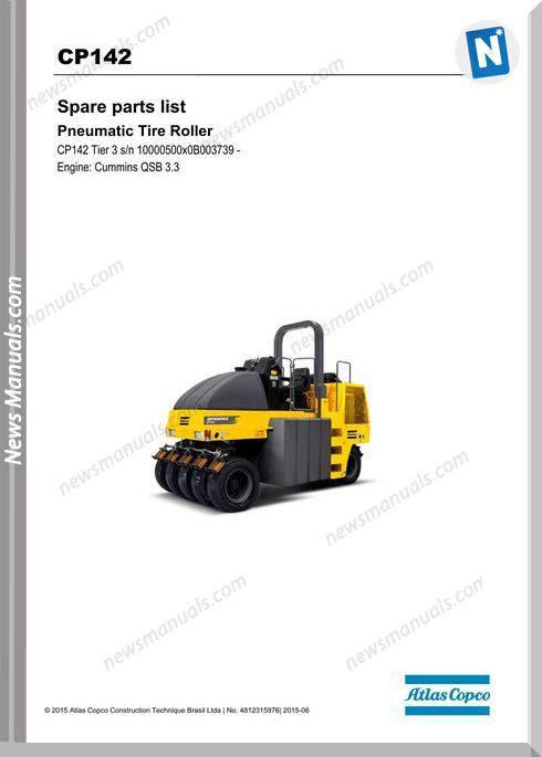 Dynapac Model Cp142 Tier 3 Spare Parts Catalogue