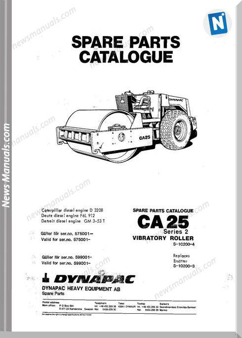 Dynapac Models Ca25 5 Parts Catalogue