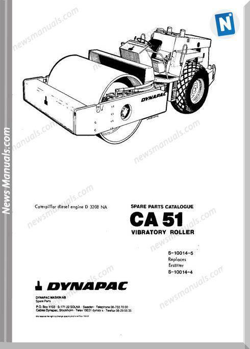 Dynapac Models Ca51 Parts Catalogue