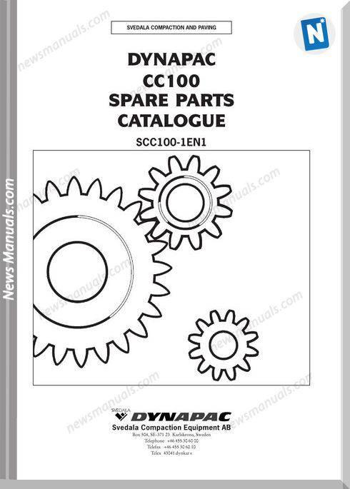 Dynapac Models Cc100 Parts Catalogue