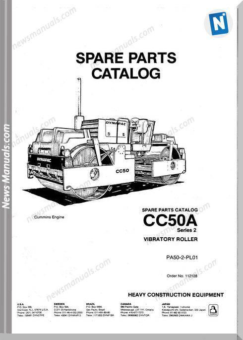 Dynapac Models Cc50A Parts Catalogue