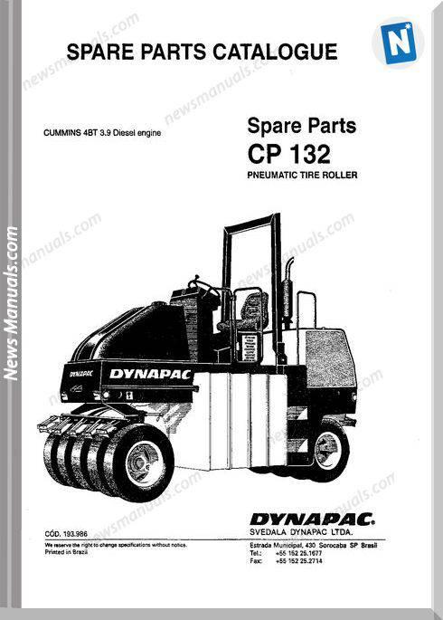 Dynapac Models Cp132 Parts Catalogue
