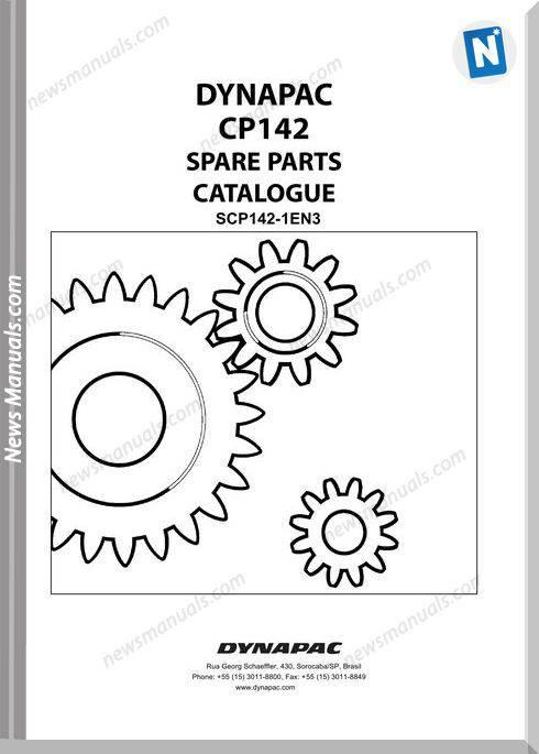 Dynapac Models Cp142 3 Parts Catalogue