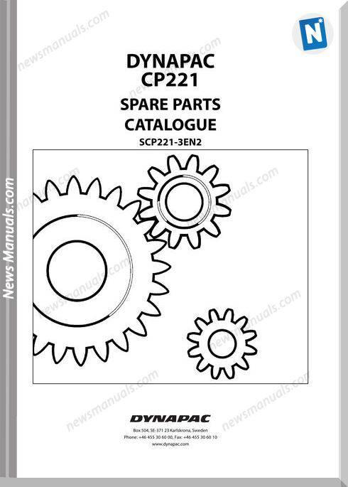 Dynapac Models Cp221 3 Parts Catalogue