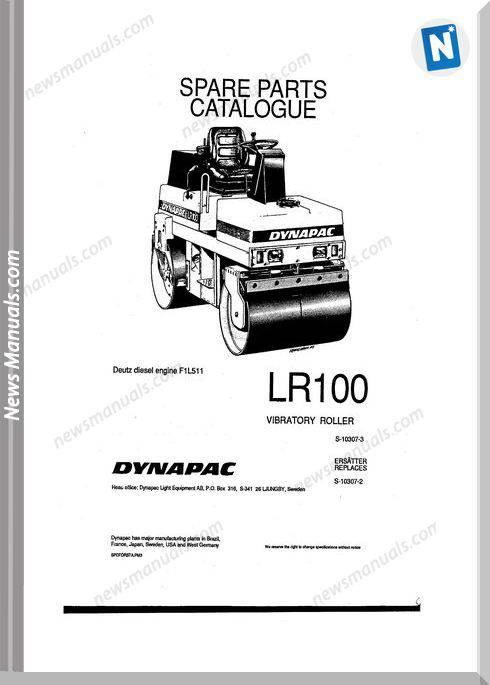 Dynapac Models Lr100 Parts Catalogue