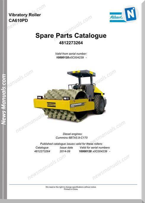 Dynapac Vibratory Roller Ca610Pd 4812273264 Part Manual