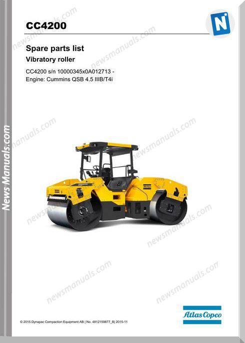 Dynapac Vibratory Roller Cc4200 Iiib T4I Parts Manual