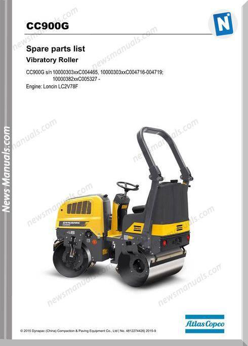 Dynapac Vibratory Roller Cc900G Lc2V78F Parts Manuals