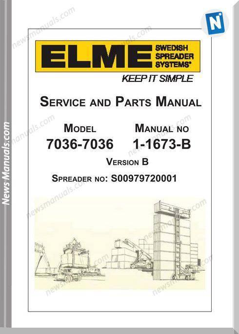 Elme Container Agg Model 7036-7036 Repair Manual