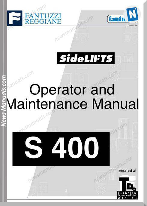 Fantuzzi Sidelifts S400 Operator And Maintenance Manual