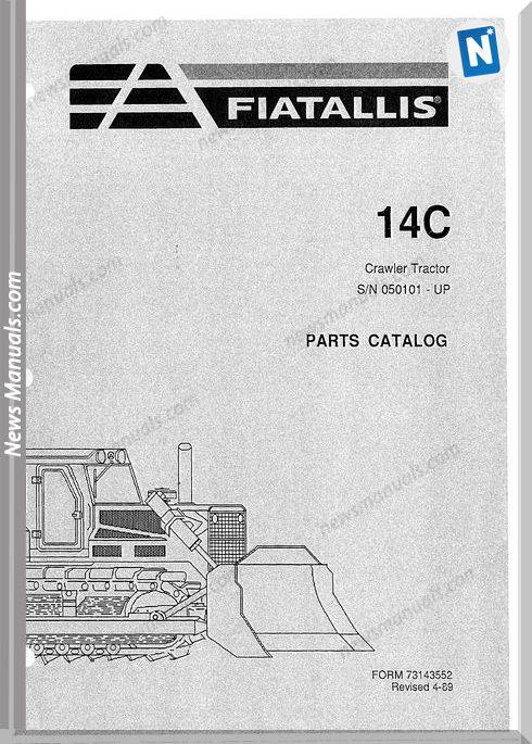 Fiat Allis Crawler Models 14C 2 Parts Catalogue