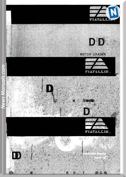 Fiat Allis Dd Motor Grader Parts Catalog