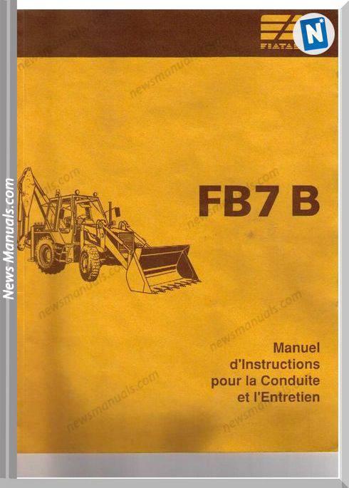 Fiat Allis F7Fb Manuel Instructions Conduite