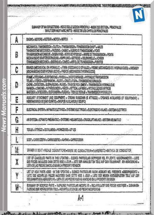 Fiat Allis Fr20B Sn 510101 Wheel Loader Parts Manuals