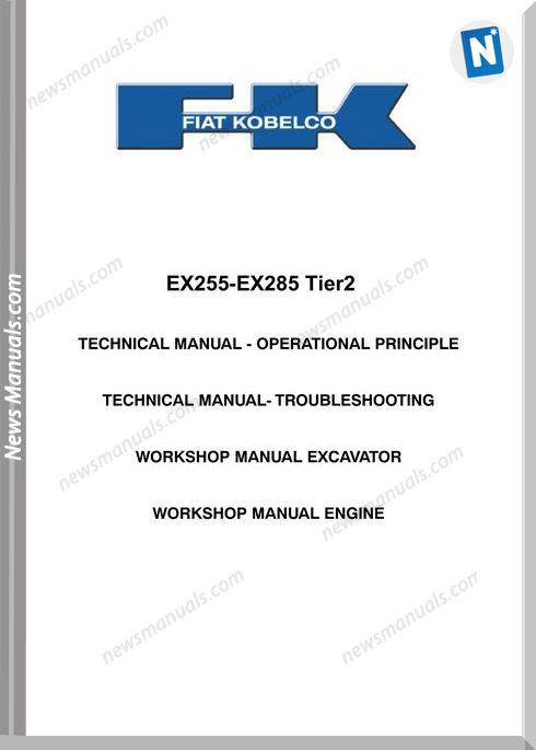 Fiat Kobelko Ex255T Shop Manual
