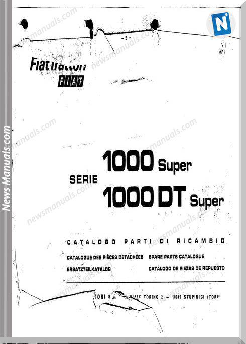 Fiat Serie 1000 Super Parts Catalog Fr Language