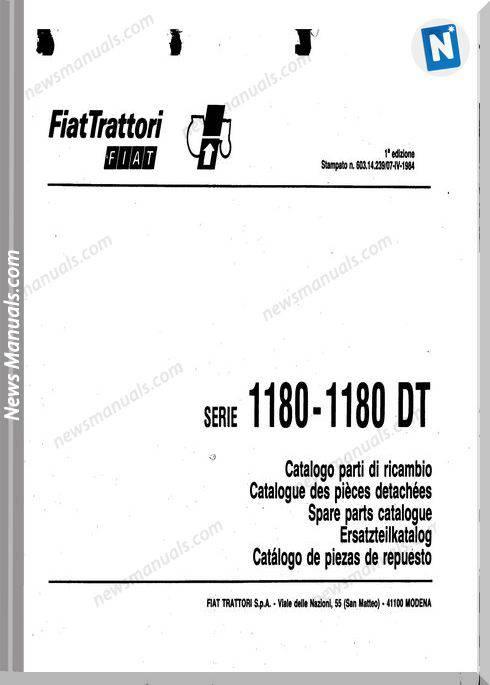 Fiat Serie 1180 Parts Catalog French Language