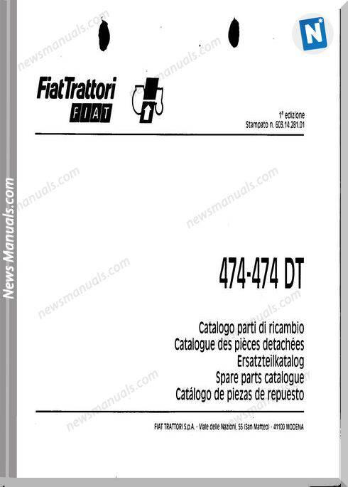 Fiat Serie 474 Parts Catalog French Language