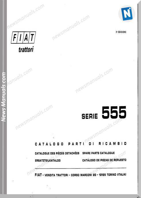 Fiat Serie 555 Parts Catalog French Language