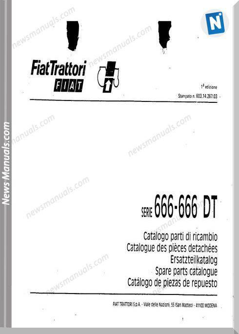 Fiat Serie 666 Parts Catalog French Language