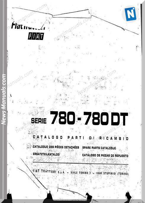 Fiat Serie 780 Parts Catalog French Language