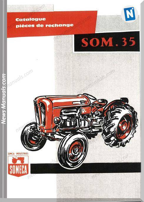 Fiat Serie Som 35 Parts Catalog French Language
