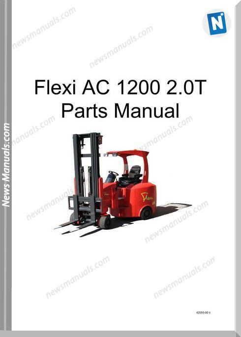 Flexi Forklift Ac 1200 2.0T English Parts Manual