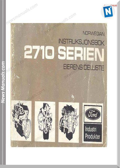 Ford 2710 Series Motor Instructions And Parts