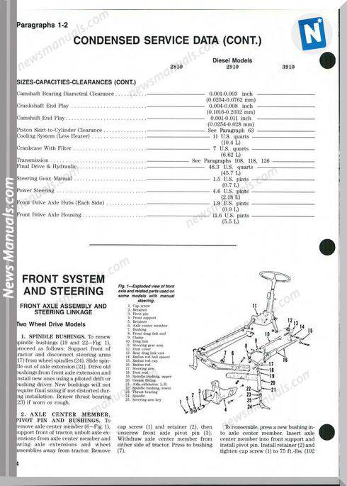 Ford 2810 2910 3910 Shop Manual