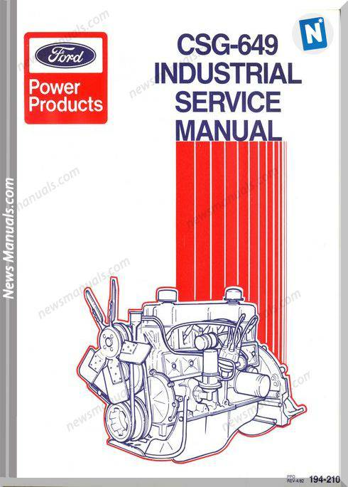 Ford 300Cid 6Cylinder Industrial Service Manual