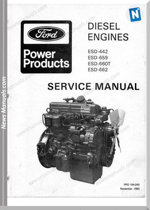 Ford Diesel Engine Esd Service Manual