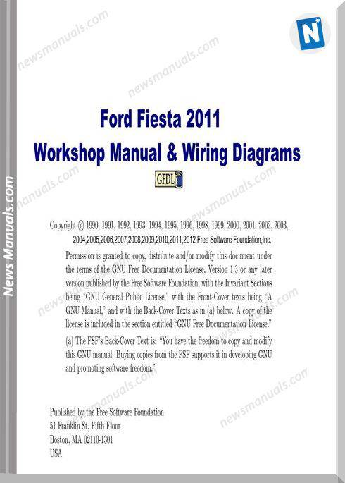 Ford Fiesta Workshop Manual Wiring Diagram 2011