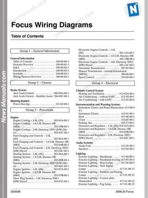 ford focus parts catalogue pdf