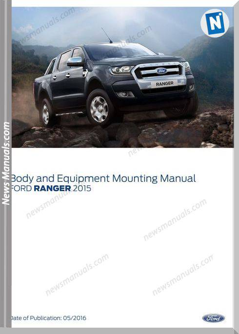Ford Ranger 2015-2016 Pxmkii Body,Equipment Shop Manual