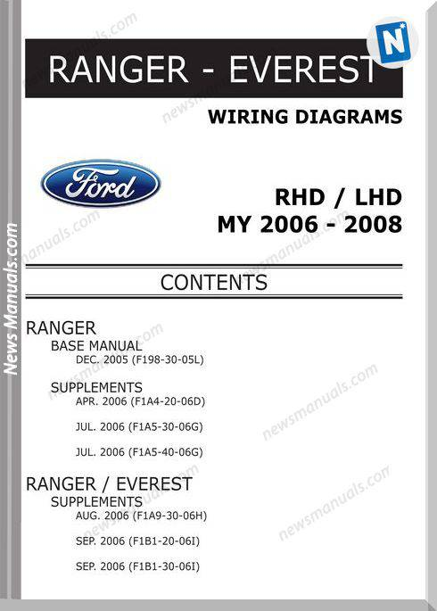 Ford Ranger Everest 2006 2008 Wiring Diagram System