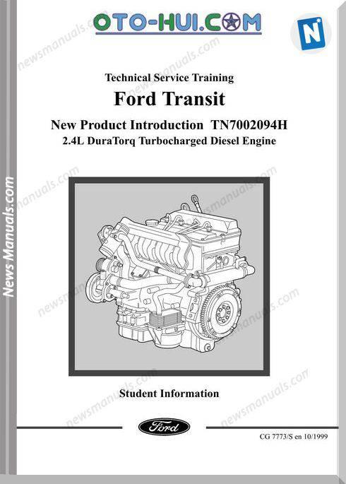 Ford Transit Engine 2 4L Duratorq