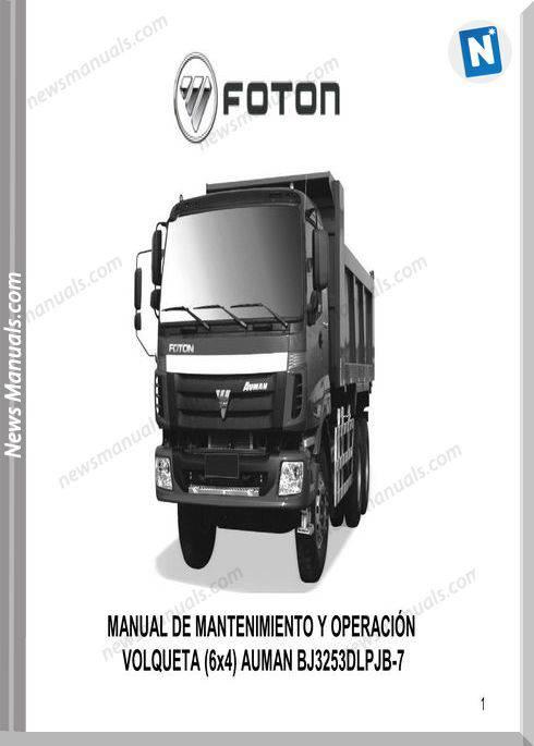 Foton Track Volqueta Auman (6X4) Parts Manual