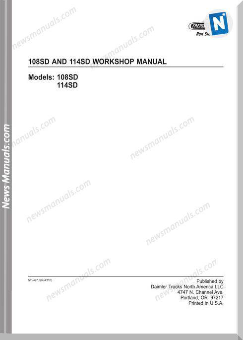 Freightliner 108Sd And 114Sd Workshop Manual