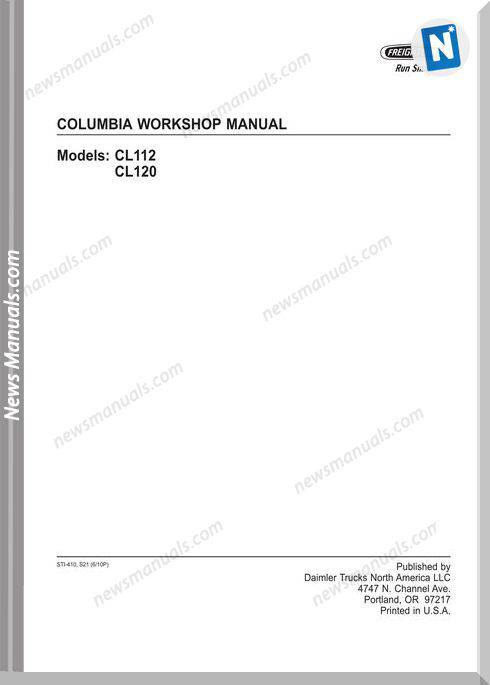 Freightliner Columbia Workshop Manual