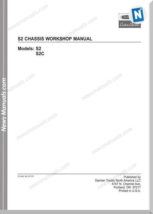 Freightliner Fccc S2 Chassis Workshop Manual