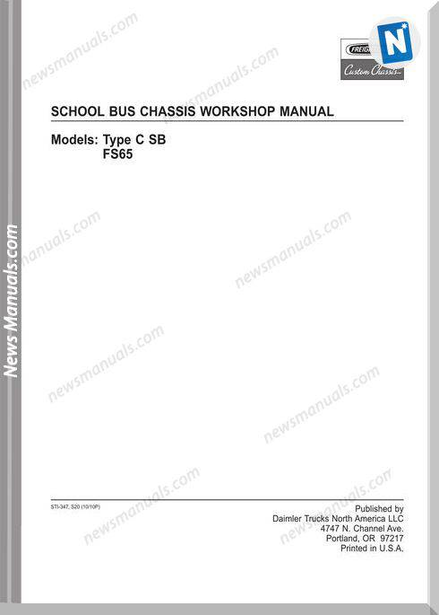 Freightliner Fccc School Bus Chassis Workshop Manual