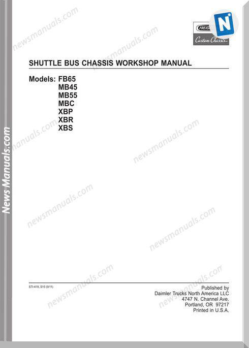 Freightliner Fccc Shuttle Bus Chassis Workshop Manual