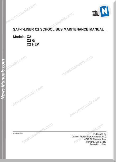 Freightliner Saf Liner C2 School Bus Maintenance Manual