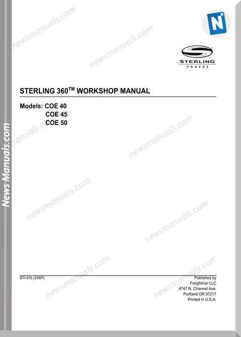 Freightliner Sterling 360 Workshop Manual 2007