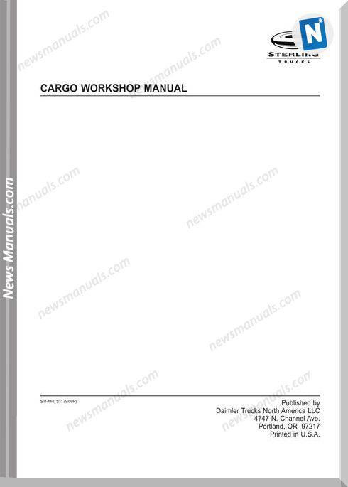 Freightliner Sterling Cargo Workshop Manual