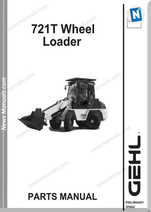Gehl 721T All Wheel Steer Loader Parts Manual 909888