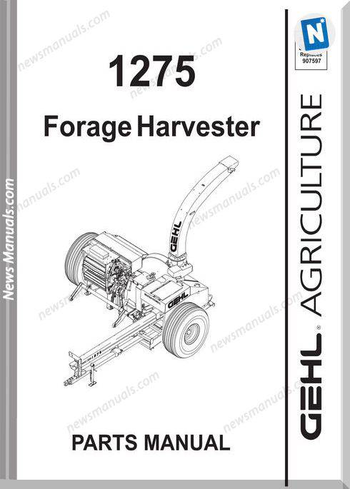 Gehl Agri 1275 Forage Harvester Parts Manual 908010